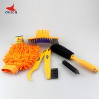 Wholesale CYLION Bicycle Chain Wash Cleaner Cycling Chain Protector MTB Bike Multifunctional Tool Machine Scrubber Brushes Kits