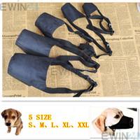 Wholesale Breathable Safety Small Medium Large Extra Dog Muzzle Muzzle Adjustable Black xset of