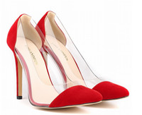 Wholesale SIZE spring summer autumn flock women pumps high heels women shoes wedding shoes sapatos feminino