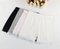 Cheap hot summer fashion girls cotton short leggings lace short leggings for girls lace safety pants shorts baby girl short tights free shipping