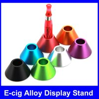 stand - Alloy Stand Electronic Cigarette Display Metal Base e cigarettes holder Candy Colors stand Battery Atomizer Display Stand for E Cigarettes