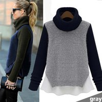 Wholesale 2014 New Female Winter and Fall Sweater High end Women Korean Lace Bottoming Sweater Hedging Loose Sweater Coat Temperament Turtle Sweater