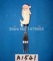 Wholesale cheese butter knives set with santa handle