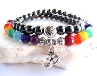amethyst mala beads - SN0103 Hematite amethyst Bead Yoga Meditation bracelet Chakra beads Mala bracelet