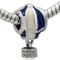 Silver air sterling silver - New Air Balloon Enamel Pendant Charm Sterling Silver European Charms Beads Fit diy Snake Chain Bracelet Women Jewelry