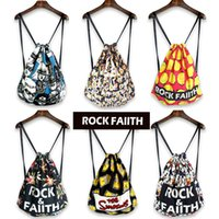 Wholesale fashion backpack women bag casual original shopping bag draw string bag print cartoon vintage open whole sale hot new
