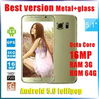 android cell phone 4g - 5 inch S6 Octa core MTK6592 Android cell phone show G lte GB RAM GB ROM Smart Phone