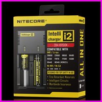 Wholesale 40PCS Nitecore I2 Universal Intellicharger Charger for Battery E Cigarette Multi Function with Security Code