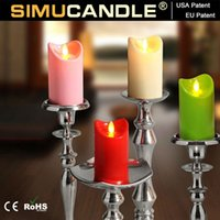 Wholesale Party and Wedding Decoration Battery Operated Flameless Led Candle Set with Moving Wick and Timer Remote Control Optional