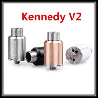 Replaceable 3.5ml Metal Kennedy V2 Dripping Atomizer 1:1 Clone Black SS White Copper Colored DIY Tank Ecig Vaporizer vs In'ax MKII Royal Hunter RDA Kit