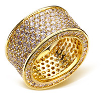 Wholesale Rings for party gold plated with cubic zircon crystal finger Ring high quality fashion jewelry Free shipment full size