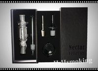 Wholesale Nectar collector kit with quartz trip titanium trip mm mm all avaiable Glass pipe mini glass bong also offer titanium nail
