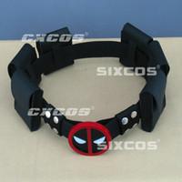 Wholesale moda Deadpool Belt Buckle with belt and belt pouches Halloween Costume adjustable