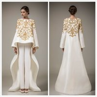elegant dresses - 2015 hot Bling stain Evening Dresses with Long Sleeve Dubai Arabic Dresses Elegant Middle East Dress Prom Gown Only coat no have trousers