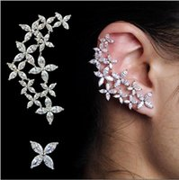Wholesale APMRight and left asymmetric design new arrival brand Cubic Zirconia ear cuff earring