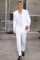 best formal wear - 2015 Best Selling White Mens Suit For Wedding Slim Fit Runway Fashionable Formal Prom Wear Clothing Bridegroom Suit Jacket pants Exquisite