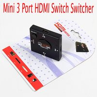 hdmi selector - 100pcs Mini Port HDMI Switch Switcher Splitter input Output Box HDMI Selector for HDTV P Video Free DHL