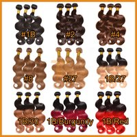 cheap hair - Brazilian Virgin Hair Body Wave Cheap Ombre Hair Extensions Remy Human Hair Weaves Double Weft Colored Brown Blonde Brazilian Hair