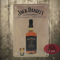 antique advertising posters - Tin Sign Wall Decor Retro Metal Art Poster Jack D Whiskey Pub Advertising
