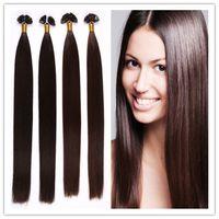 "Cheap 18""-28""Keratin Flat Tip Human Hair Extensions Cheap Wholesale Remy Human Hair Extensions 1G S 100G PC 300G LOT STOCK Free Shipping"