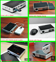 Wholesale New Model Portable Mini projector DLP Digital D LED Projector Android Projector Full HD Home cinema p Projector