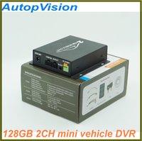 al por mayor circuito cerrado de televisión de vehículos-2 canales del sistema de grabación en tiempo real DVR de 128 GB Tarjeta SD de grabación móvil de vehículo Bus Truck Car Audio con cerradura de seguridad CCTV 2CH DVR