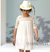 brand clothes kids - 2015 spring New Princess dress Kids cotton hollow dress National style girls dress brand children clothing A5832