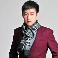 Wholesale 2014 New Men s Winter Classical brand wool Scarf Men Tassels Scarf Long Pashmina Shawl