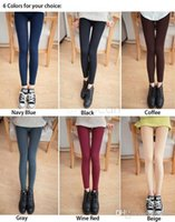 100% Cotton al leg - Women Casual Warm Winter Faux Velvet Leggings Knitted Thick Slim Legging High Quality Fitness Leggins AL X1