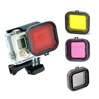 Wholesale Underwater Red Yellow Color Diving UV Filter for GoPro Hero Xiaomi GBNG