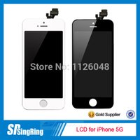 Cheap LCD for iPhone 5 Touch Screen Panel Digitizer clone for Display Replacement black and white