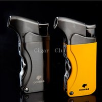 beautiful gadgets - COHIBA Gadget High Quality Beautiful Metal Windproof Torch Jet Flame Cigarette Cigar Lighter with Double Punch
