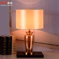 american lighting desk lamps - table lamp desk lights Minimalist Style living room bedside lamps E27 LED bedroom rustic lighting crystal glass American rural style