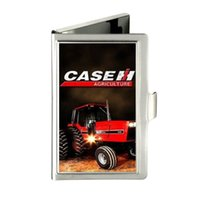 american tractors - IH Harvester Farmall Tractor Custom Design Unique Business Card Holder Pocket Wallet Name ID Credit Case Stainless Steel Box Case
