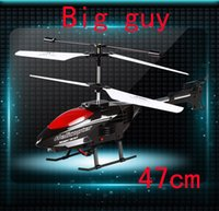 Cheap New Hot Sales Newest 3 Channel Big size 47cm RC Infrared Remote Control Helicopter With LED Kids Toy Gifts Free shipping&wholesale