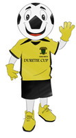 athletic dress shirts - Customized yellow T shirt Football Mascot Costume LOGO Cartoon Character Fancy Dress Adult Outfit