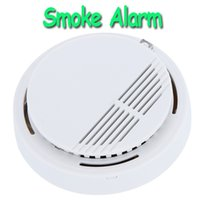 Wholesale High Sensitivity Stable Photoelectric Smoke Alarm Fire Smoke Detector Sensor Home Security System for Home Freeshipping