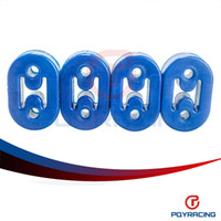 Wholesale PQY STORE Blue red gold Polyurethane Exhaust Muffler SHORT HANGERS universal PQY8951B