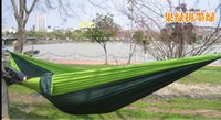 Wholesale FedEX Double Parachute Camping Outdoor Double HAMMOCK CM Max Loading KG