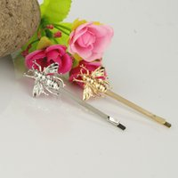 Wholesale trade jewelry big gas field in the same section street shooting exquisite fashion temperament hairpin side clip Bee