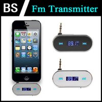 Wholesale Portable Wireless mm Car FM Transmitter for iPod for iPad for iPhone for Mobile Phone for MP3 Player