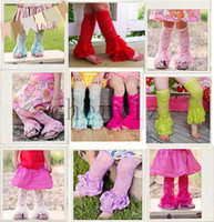 Wholesale Baby Girls Lace Leg Warmer Leg Warmer With Ruffles Colorful Warming Socks Christmas Gift BB284