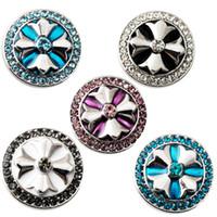 Wholesale D02199 Rivca button for noosa bracelet noosa snaps copper button noosa chunk
