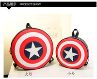 america shield - Drop shipping Backpack bag Unisex fashion bags new hot Captain America Shield College Wind Schoolbags Round bag Casual PU handbags
