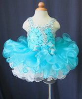 baby hand embroidery designs - 2015 Fall Designed Baby BuleToddler Pageant Dresses Ball Gown Crystal Flower Girl Dresses Baby Tutu for Christmas FD24