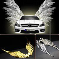 wing mirror - Car Styling D Alloy Metal Angel Hawk Wings Emblem Badge Decal Car Logo Sticker Colors