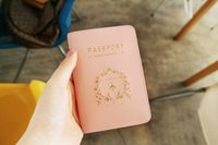 Wholesale Fashion Two Colors Couple Passport Covers Iconic Design PVC Passport Holder Standard Passport Covers For passports