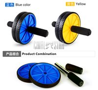 Wholesale Abdominal Muscle Wheel with Sponge Handle Abdomen Machine Fitness Wheel for Exercise Fitness