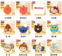 key caps - 2015 Various Cute Animals Silicon Key Caps Covers Keys Keychain Case Shell Novelty Item Key Accessories Car Keychain