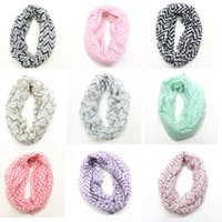 cotton shawls and scarves - Fashionable Women Winter Loop Scarf Cotton Ring Scarf Chevron Infinity Scarf Women Neck Scarves and Shawls